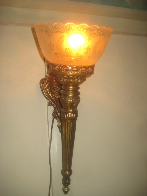 Antique Wall Gas Lamps : Large Victorian Renaisance Wall sconce (gas light) For Sale Antiques.com Classifieds
