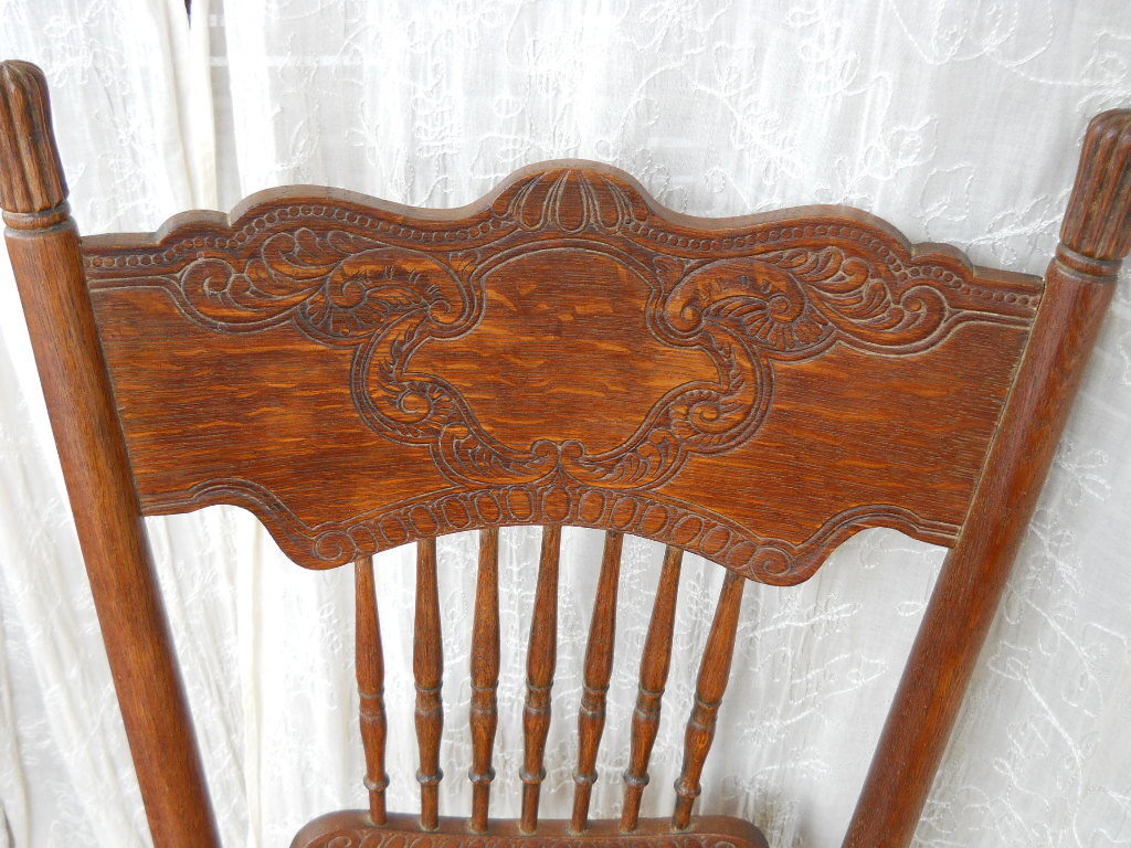 solid wood hand carved cane seat chair for sale