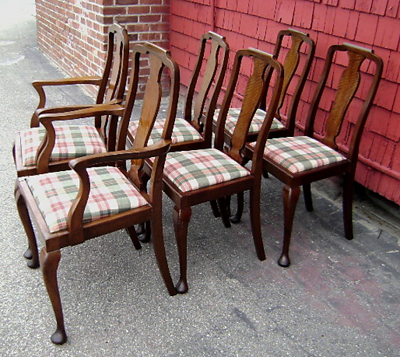 Splendid Set 4 2 Quality 1920 English Queen Anne Chairs For Sale Classifieds