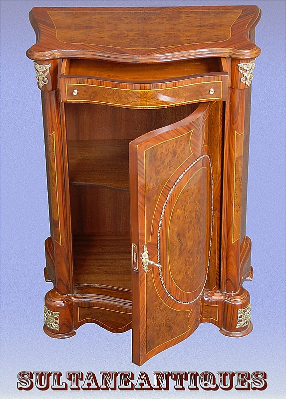 Pair elegant french louis xv style bombe commodes for sale classifieds - Vintage pieces of furniture old times elegance ...