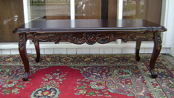 Good Classic Very Large Louis XV Mahogany Coffee Table   For Sale