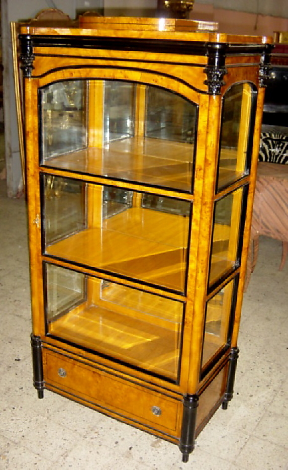 phenomenal beauty biedermeier style china cabinet for sale