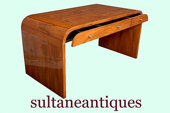 classic sherry wood art deco style forms desk for sale antiques