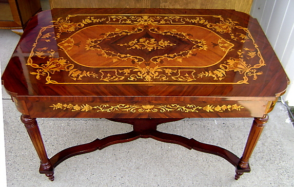 Coffee Table In The French Napoleon III Style With Marquetry. Antique  Furniture