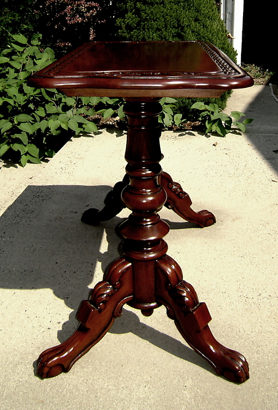 Quality Carved Mahogany Irish Sofa Console Table For Sale Cl