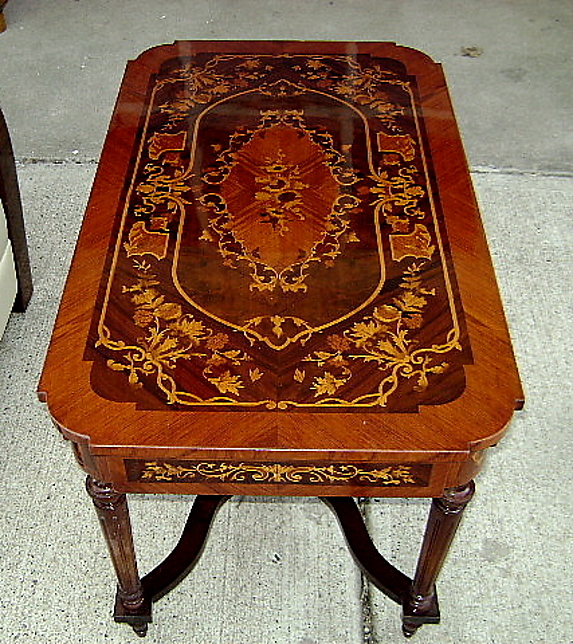Imperial Coffee Table Marquetry Napoleon III Style For