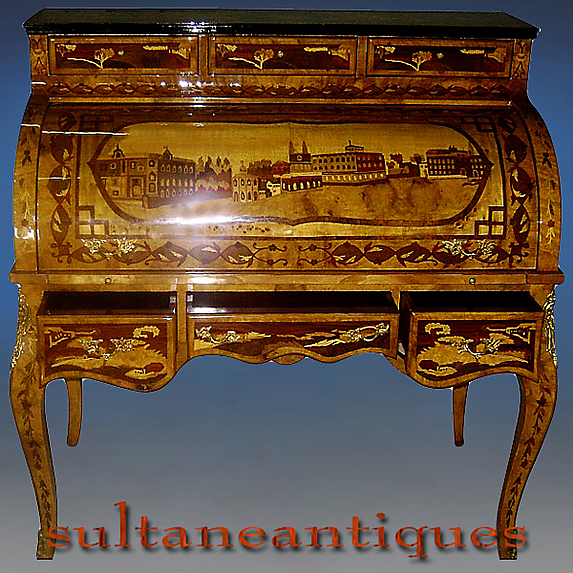 Extraordinary Russian Tsar S Style Roll Top Desk For Sale