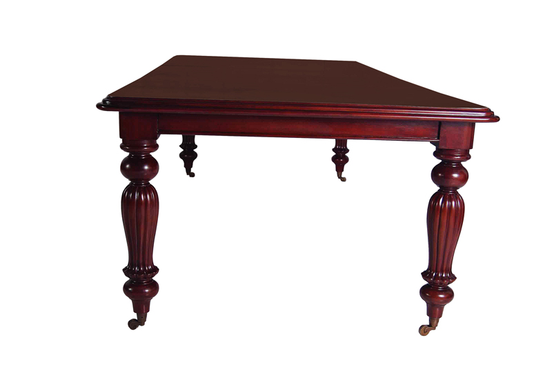 Huge best victorian fluted legs mahogany table for sale for Best quality dining tables