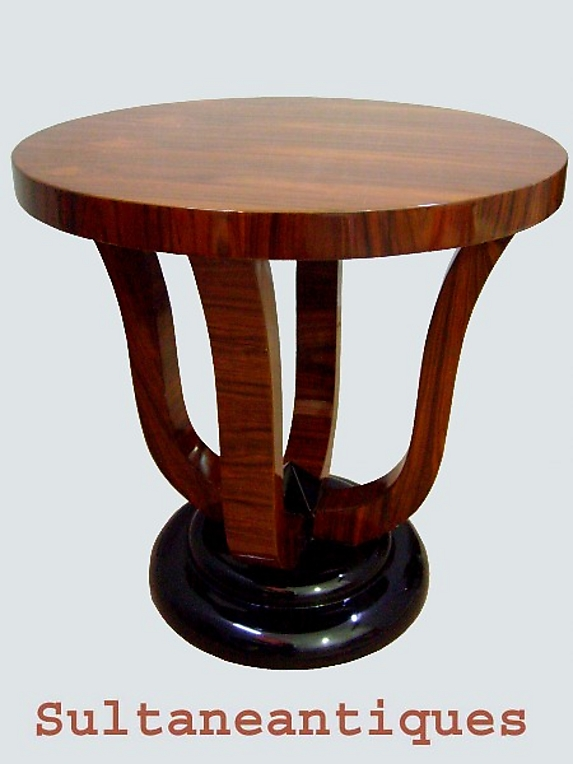great art deco style two toned rosewood side table for sale art deco style rosewood