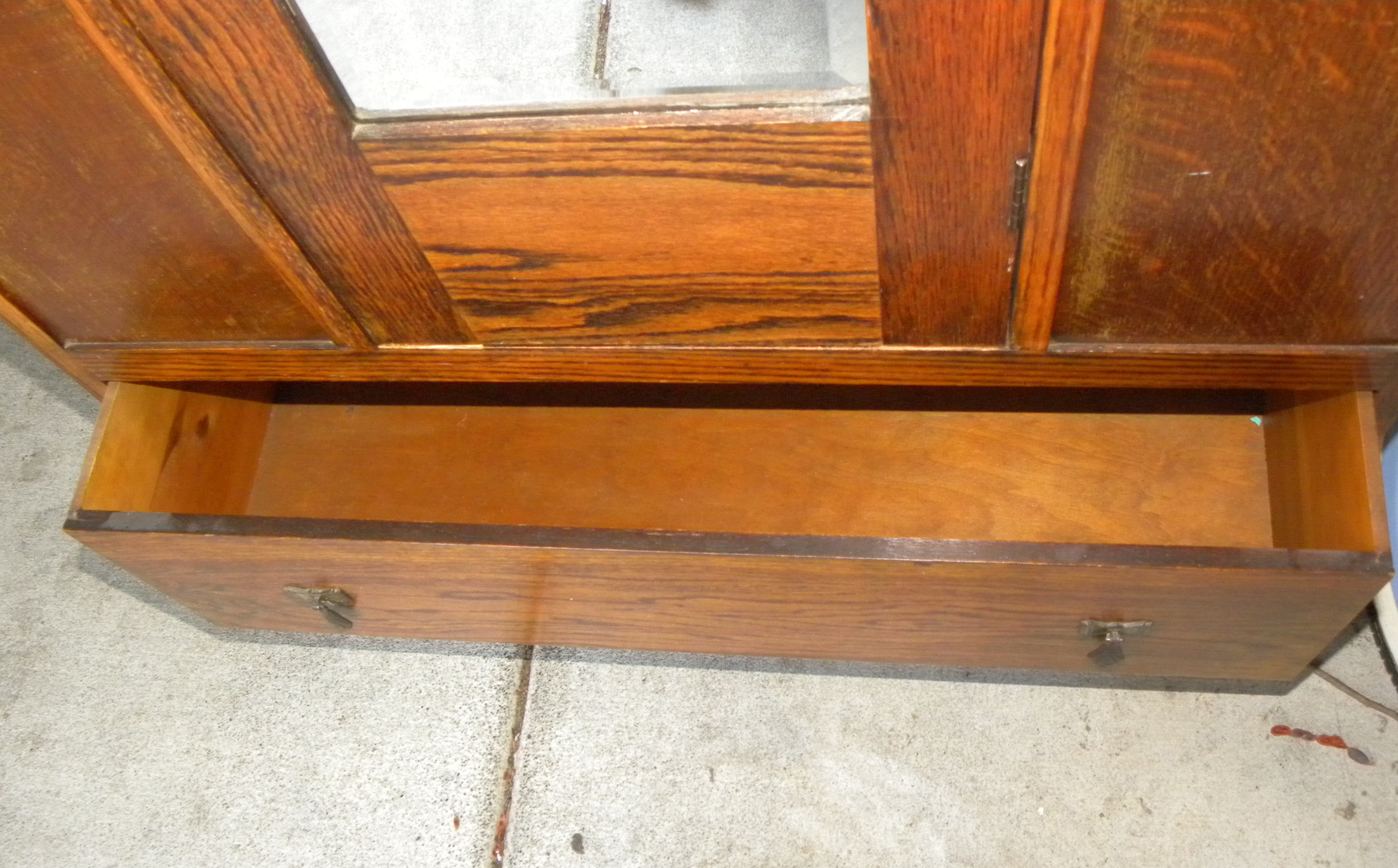 Antique Armoire Wardrobe with Beveled MIrror For Sale ...