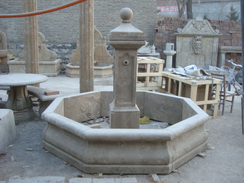 Nice Hand Carved Antique Garden Fountain   For Sale