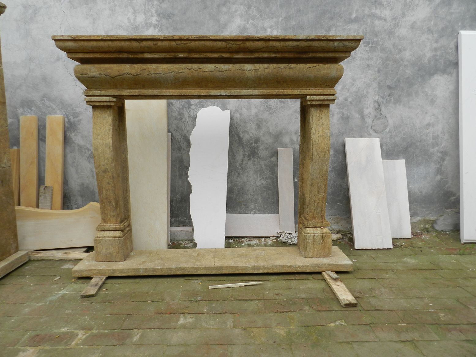 Hand Carved Antique Marble Fireplace Mantel For Sale Classifieds