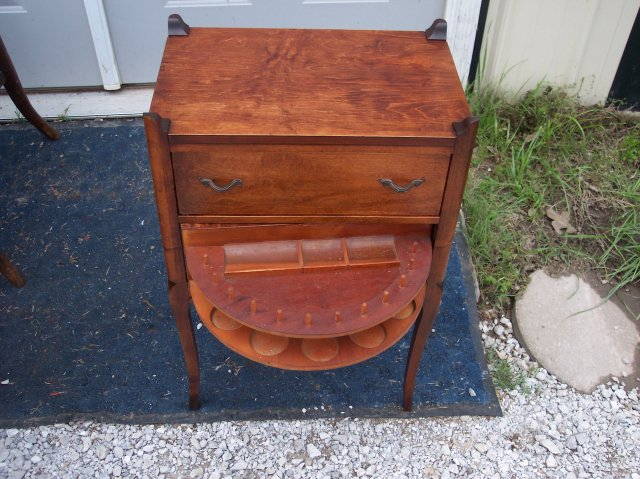 mahogany sewing cabinet stand for sale images frompo. Black Bedroom Furniture Sets. Home Design Ideas