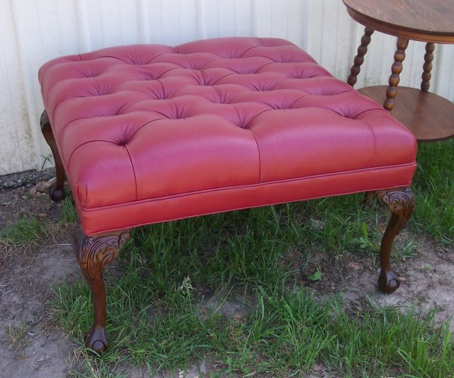 For sale classifieds Red leather ottoman coffee table
