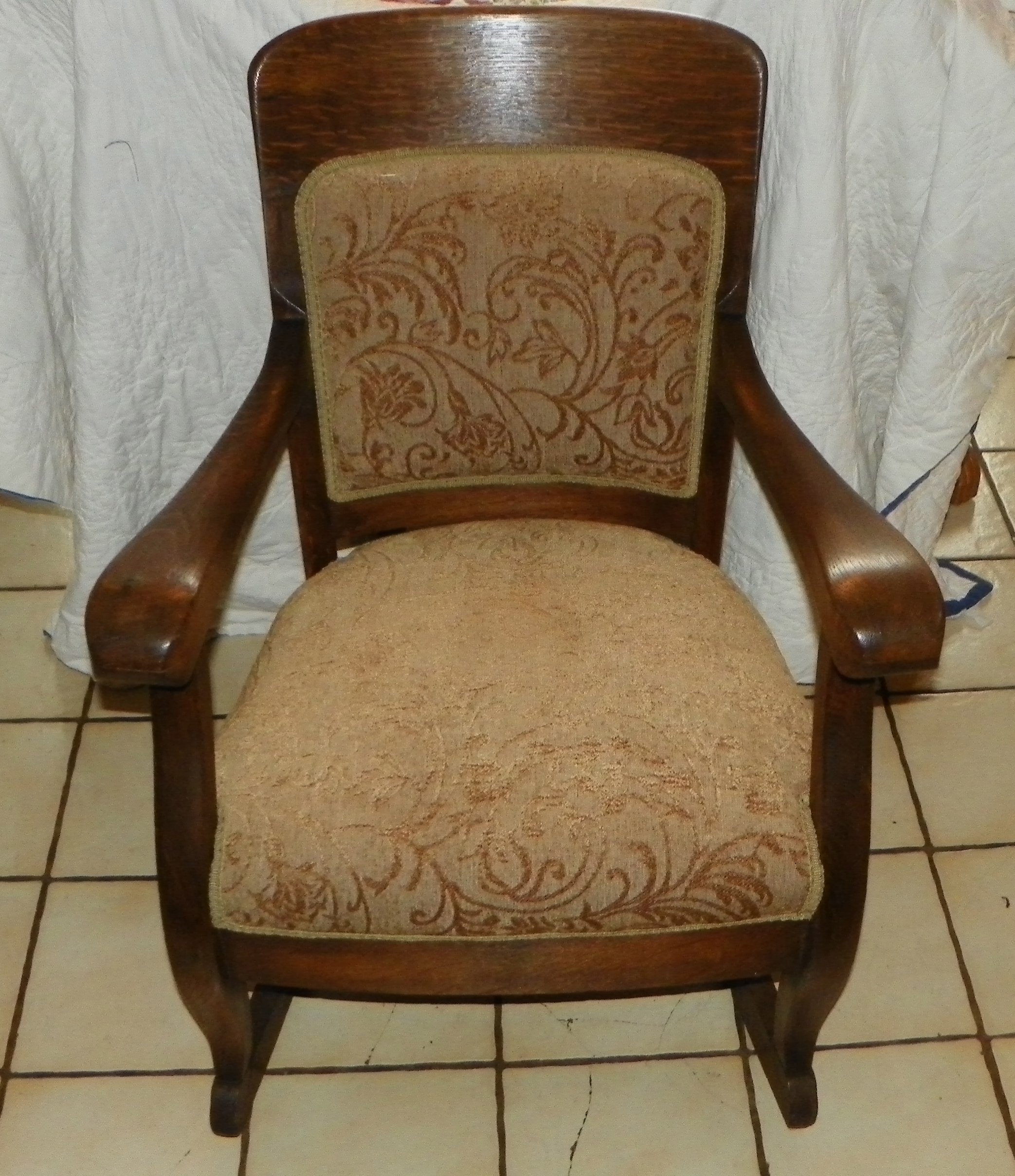 quartersawn oak empire rocker rocking chair r177 for sale classifieds. Black Bedroom Furniture Sets. Home Design Ideas