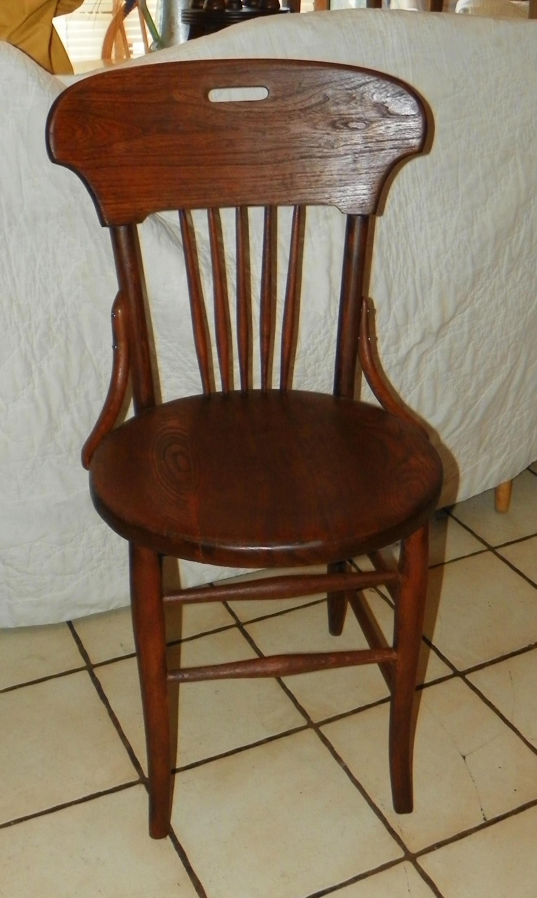 Oak Desk Chair Ice Cream Sidechair SC241 For Sale Classi