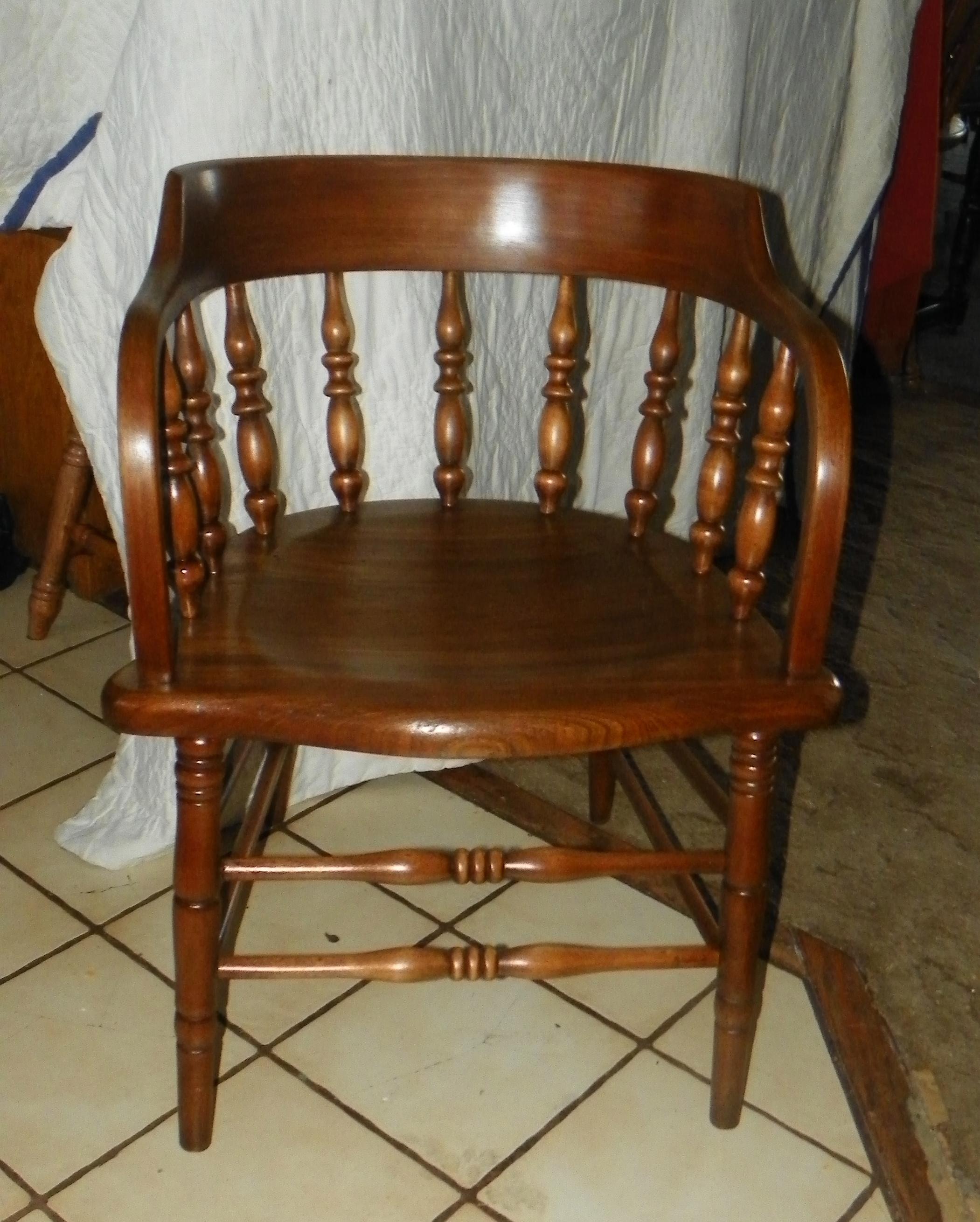 Antique captains chairs - Walnut Firehouse Armchair Captain Chair Ac21 For Sale Antiques Com Classifieds
