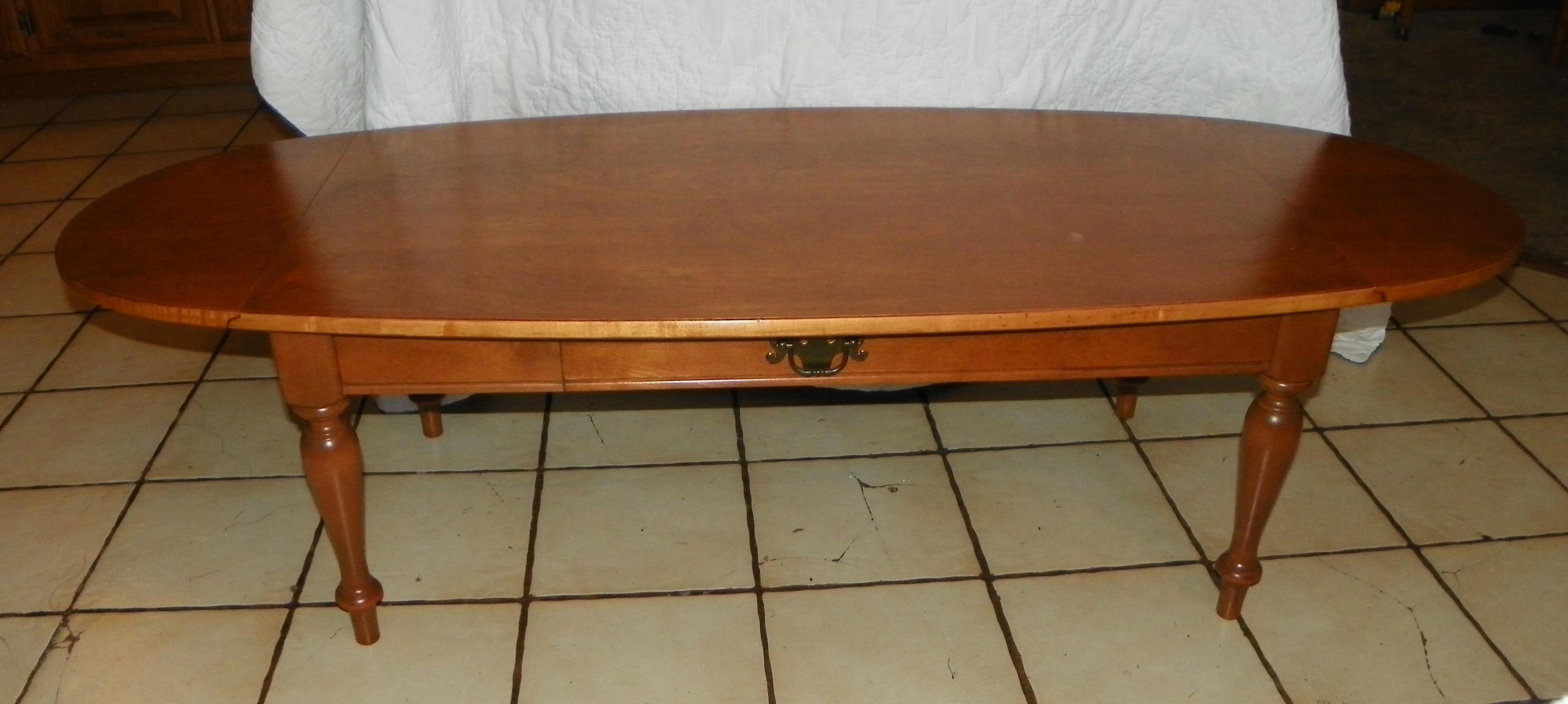 Light Cherry Ethan Allen Dropleaf Coffee Table BM For Sale