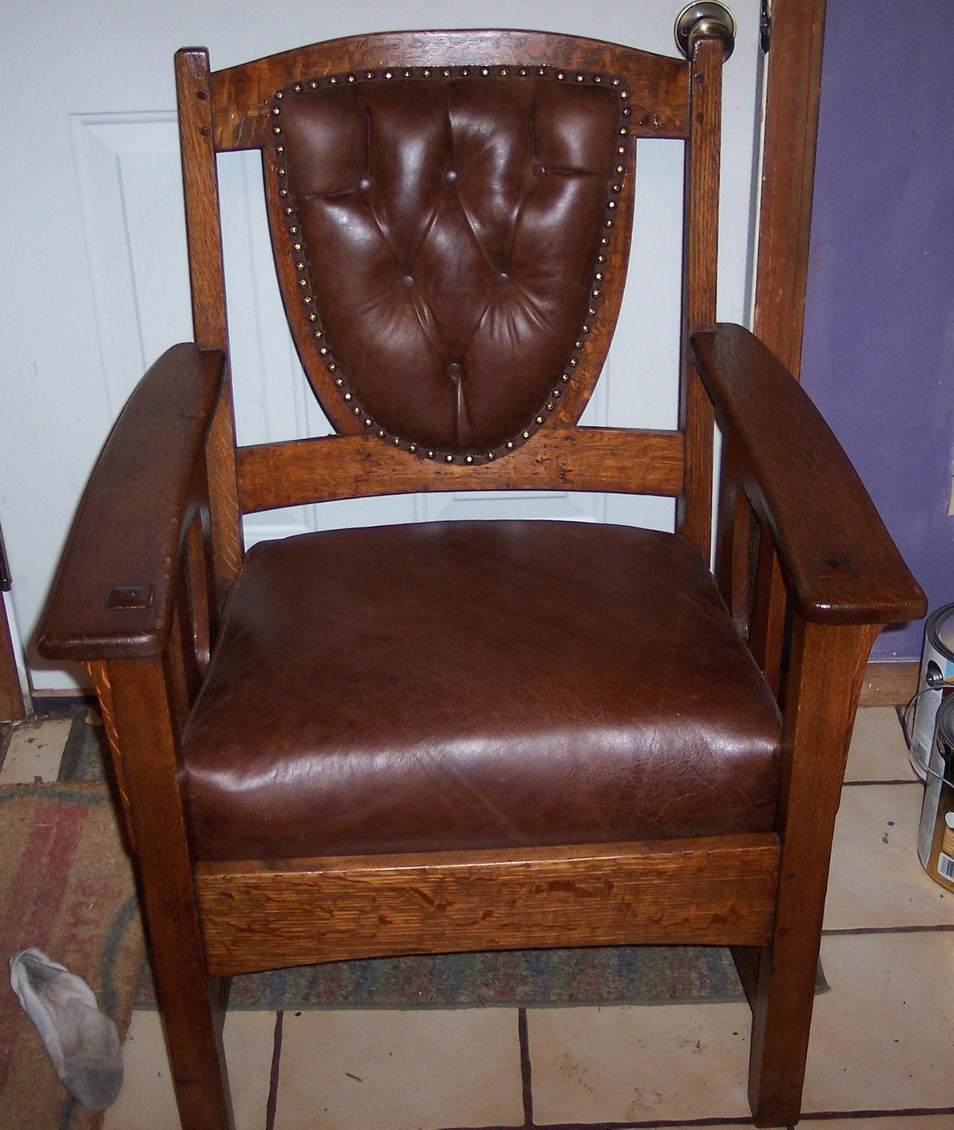 Quartersawn Oak Limbert Armchair Office Chair AC9 For Sale