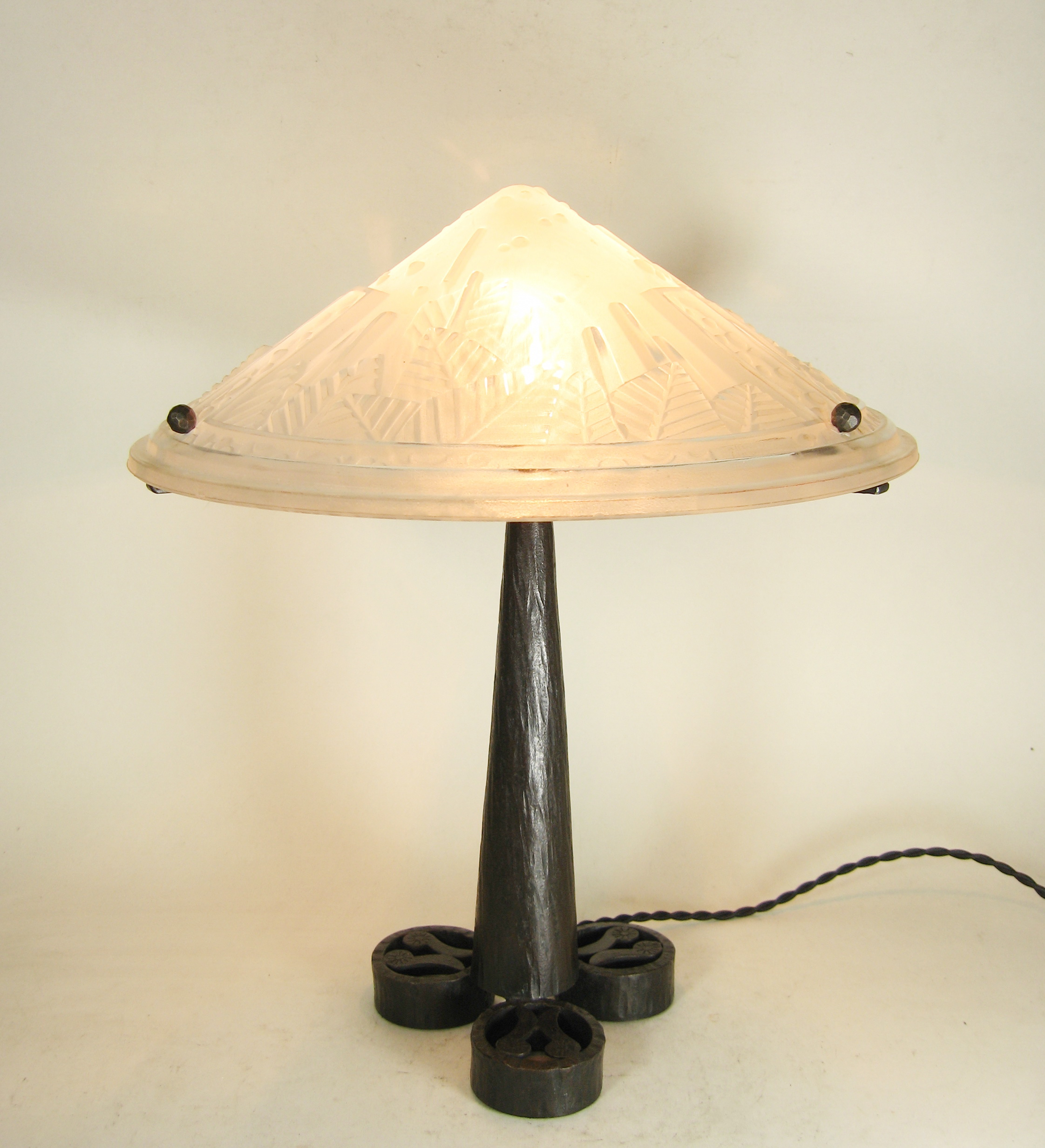 muller freres french 1925 art deco table lamp for sale antiques