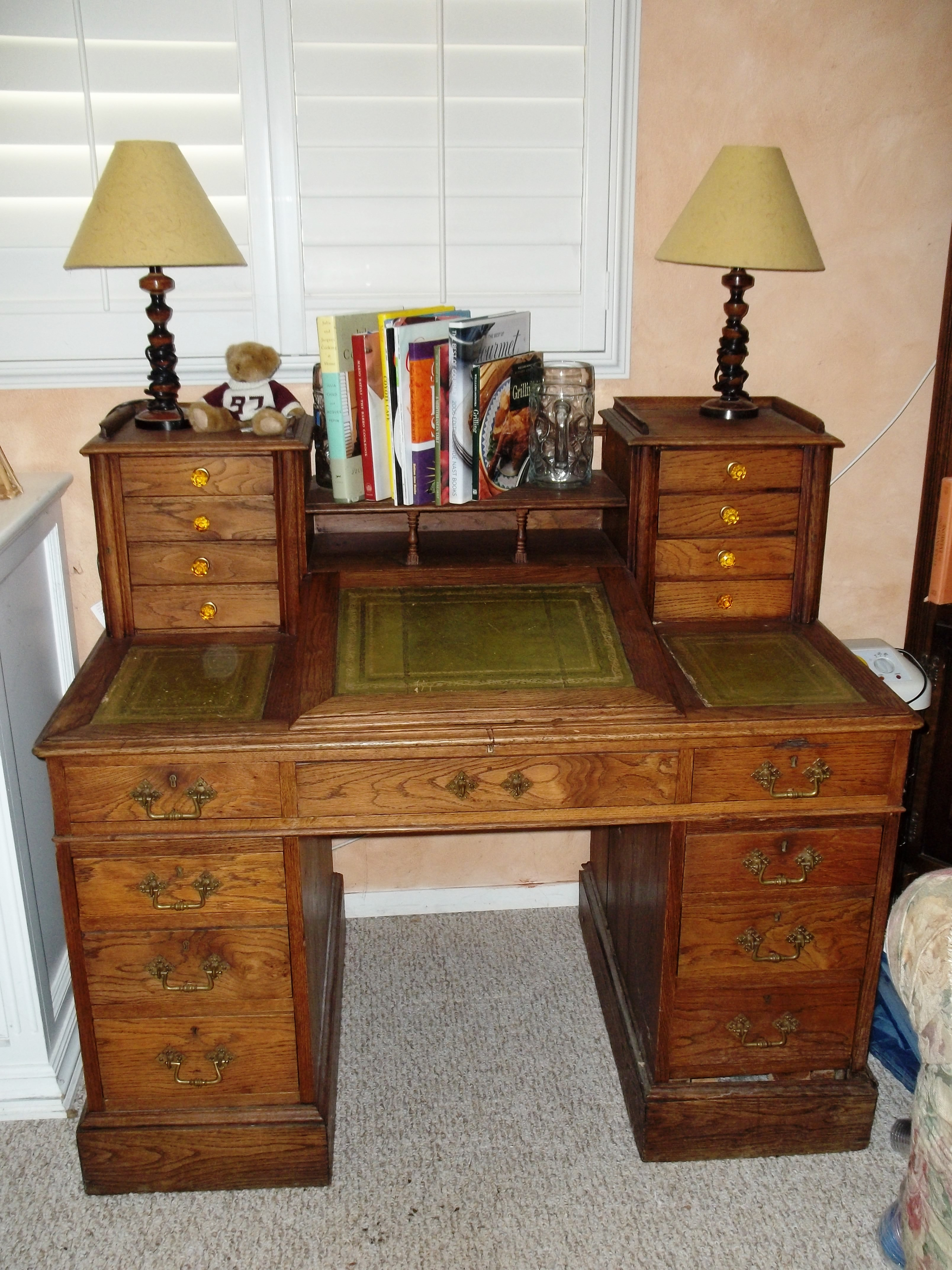 Victorian era writing desk for sale antiques