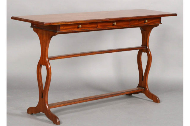 Unique jansen signed regency style sofa table j6669 for for Unique console tables for sale