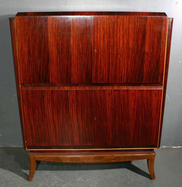 RUHLMANN STYLE ROSEWOOD CHINA LIQUOR CABINET J4141c Thank you for viewing  our inventory, we hope you will enjoy our selections as much as we do. - RUHLMANN STYLE ROSEWOOD CHINA LIQUOR CABINET J4141c For Sale