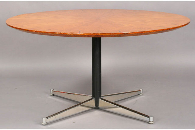 mid century modern dining table chrome base j6642 for sale antiques