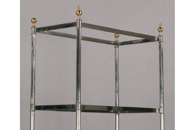 chrome brass etegere shelving display 5 shelves m3767. Black Bedroom Furniture Sets. Home Design Ideas