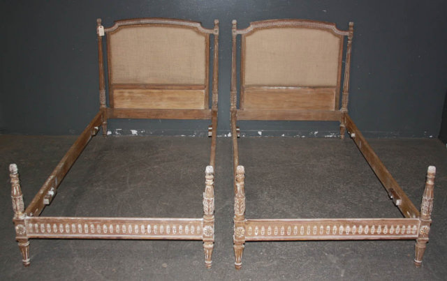 Two french louis xvi twin size beds circa 1920 for for 2 twin beds for sale