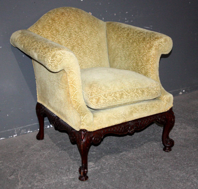 1960 39 39 s american classic mohair lounge chair mahogany for for American classic antiques