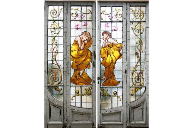 Painting glass door image collections glass door design great figural painted stained glass door entryway j6428 for sale great figural painted stained glass door planetlyrics Gallery