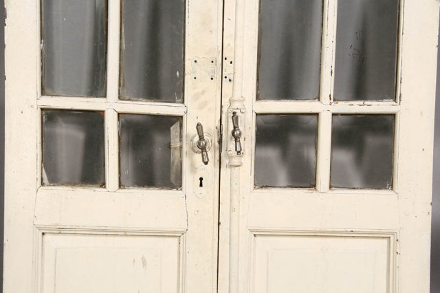 pair antique french doors with original hardware