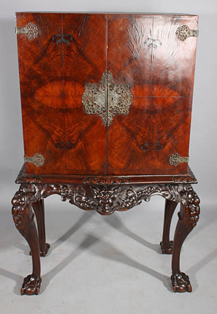 This Is A Gorgeous Crotch Grain Walnut Carved Asian Inspired China Cabinet  Bar. Perfect For Use As A Plasma Tv Cabinet Or As A Liquor Cabinet, ...