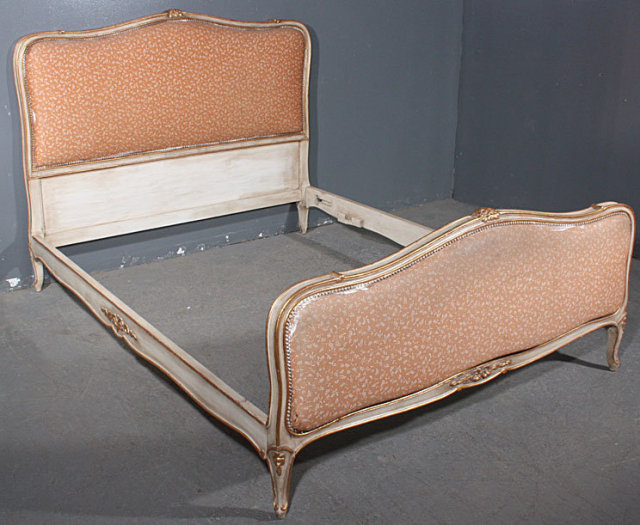 great gilt carved creme painted full size french bed for sale classifieds. Black Bedroom Furniture Sets. Home Design Ideas
