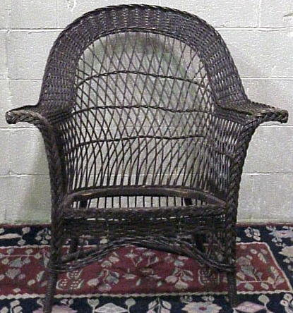 Antique Wicker Bar Harbor Chair Wakefield ?   For Sale