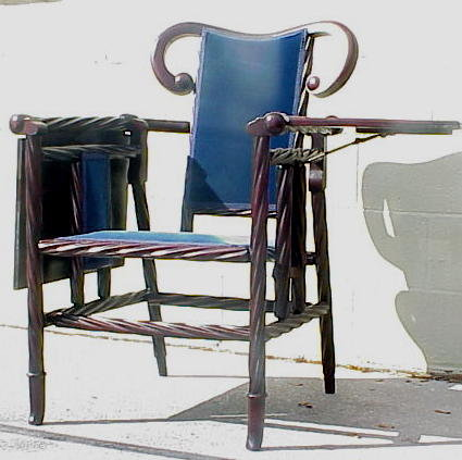 Rare Hunzinger Collapsible Writing Arm Chair For Sale
