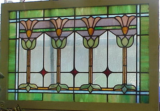 stained glass arts crafts window tulip flower decoration windows antique used church for sale qld