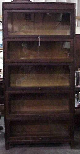 Original Finish Oak Stacking Barrister Bookcase By Gunn Mfg Made C1900 This Will Go Nicely With An Arts Crafts Home As The Has Clean Dark