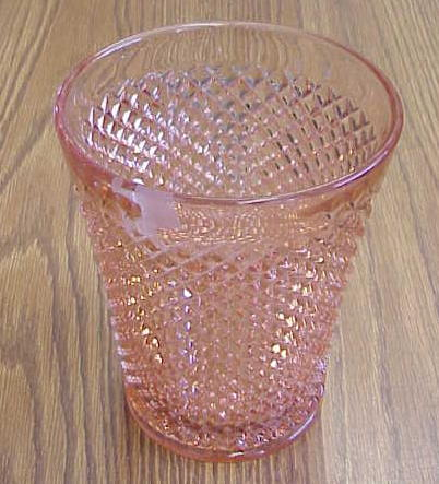 English Hobnail Depression Glass Vase Pink For Sale Antiques