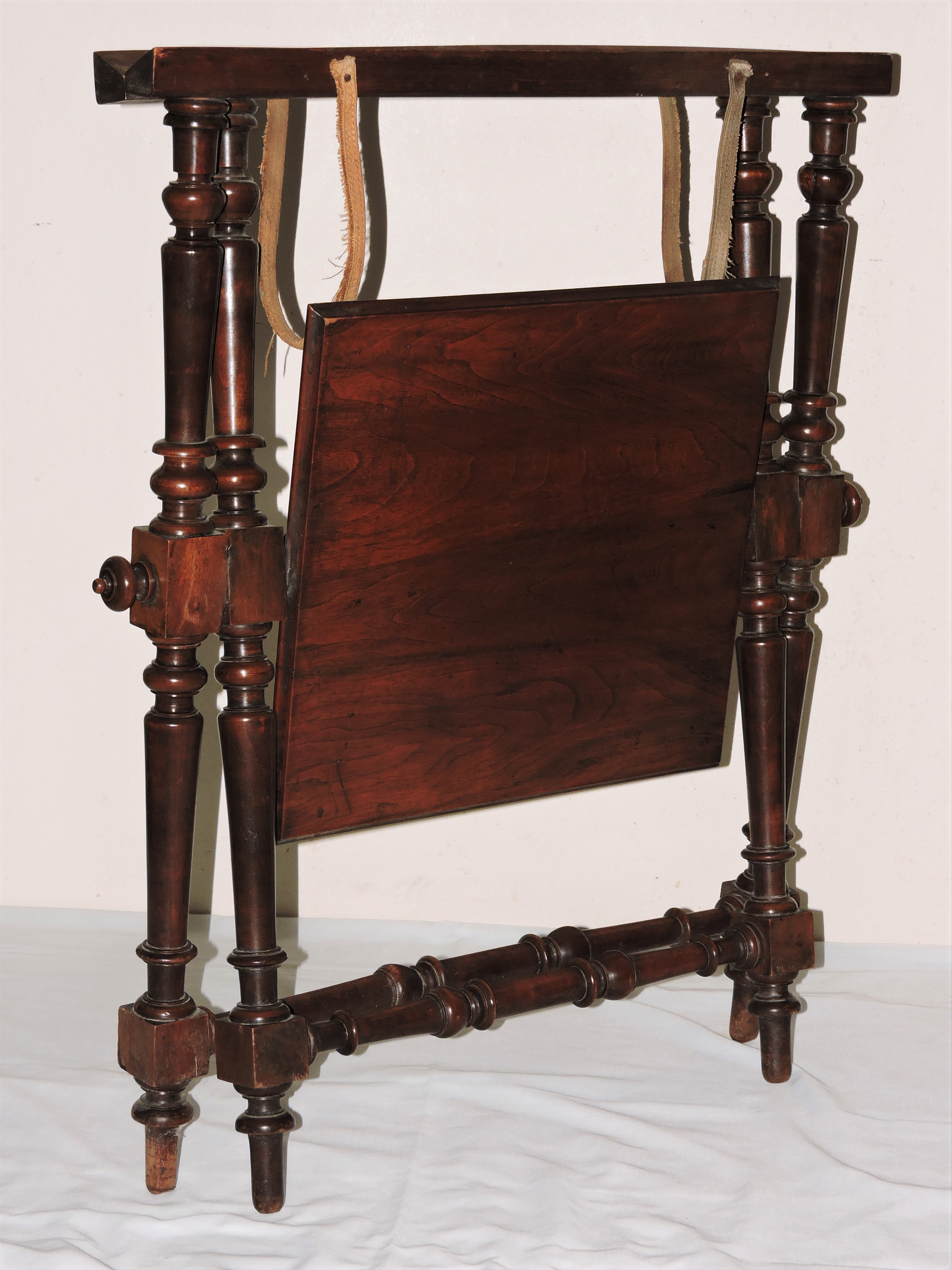 18th C Folding Campaign Table Butler Tray Stand Rare