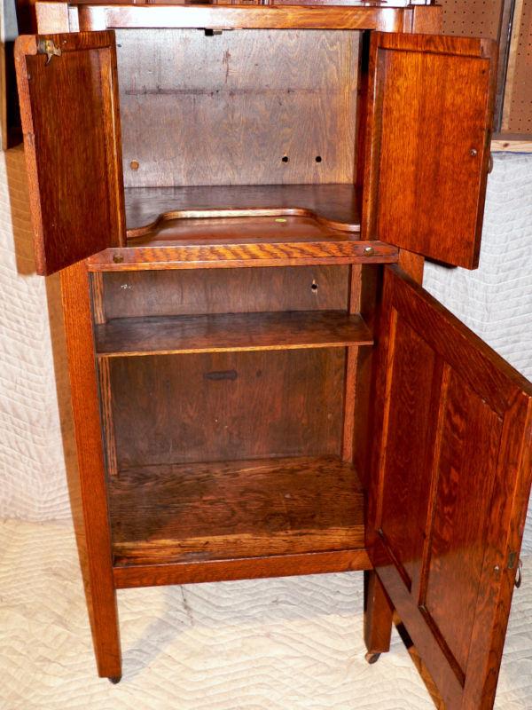 C1900 Arts Amp Crafts Mission Cellarette Bar Hersee Oak
