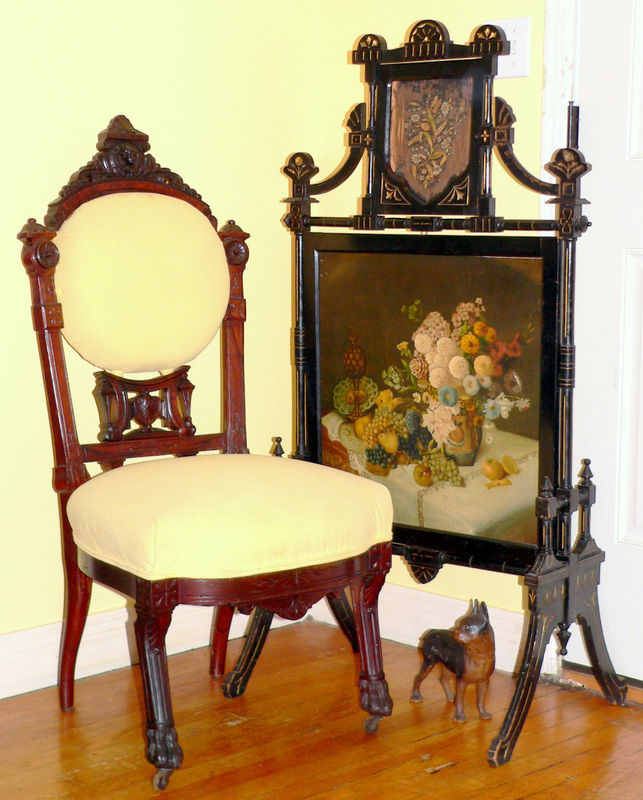 C1870 Egyptian Revival Victorian Chair Rosewood P S For Sale Classifieds