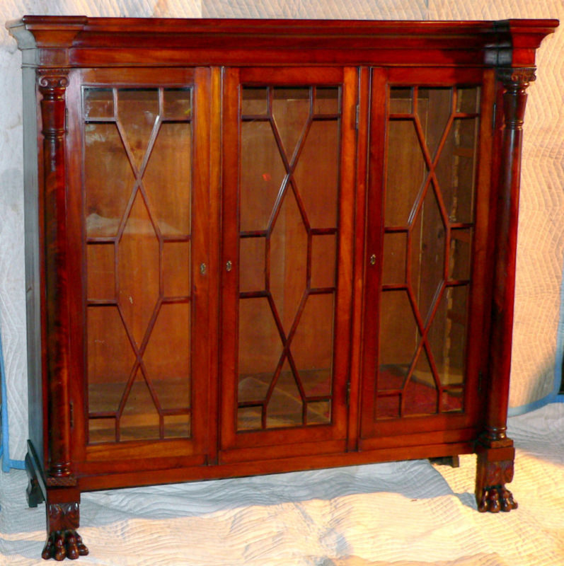 Classical Empire Revival Bookcase China Cabinet 56w For Sale Classifieds