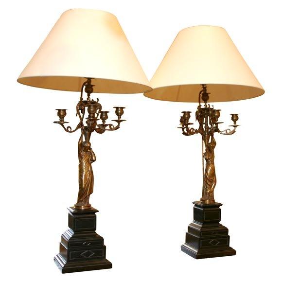 bronze figural candelarbra lamps for sale classifieds. Black Bedroom Furniture Sets. Home Design Ideas