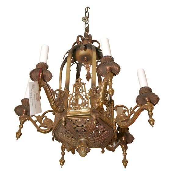 bronze gothic style chandelier for sale