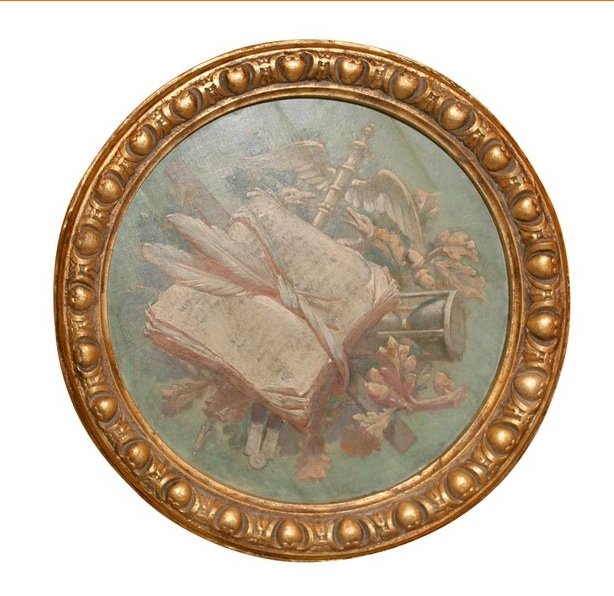 19th Century Round Painting For Sale Antiques Com Classifieds