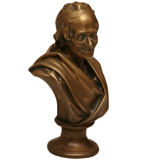 a bronze sculpture figure of 39 39 voltaire 39 39 by tiffany co for sale classifieds. Black Bedroom Furniture Sets. Home Design Ideas
