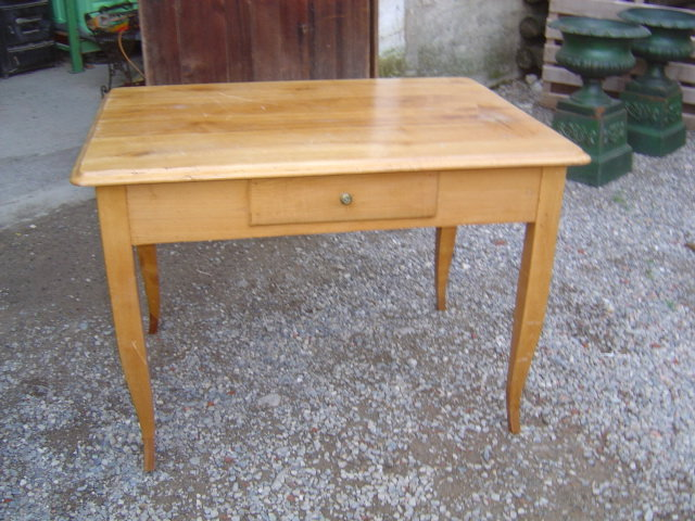French Farm table with one drawer circa 1850 For Sale Antiques