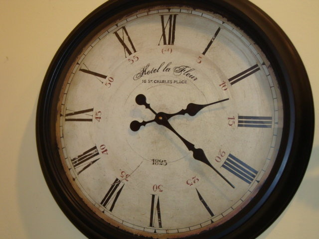 french wall clock 39 39 hotel la fleur 39 39 for sale antiques